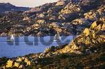 Thumbnail sailing ships near the Capo del Orso near Palau Sardegna Italy