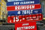 Thumbnail Advertising signs for dry-cleaning, Munich, Bavaria, Germany