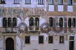 Thumbnail frescoes on gothic house in Via Rudolfo Belenzani city of Trient Italy