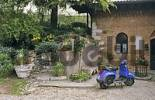Thumbnail garden of old house of the mayor in Lonato at Lake of Garda Italy