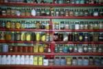 Thumbnail Pharmacy with many glasses in monastery Tashi Gompa Phu Nar-Phu Annapurna Region Nepal
