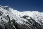 Thumbnail Ice-covered mountain range Grand Barriere with peak Khangsar Kang Annapurna Region Nepal