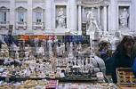 Thumbnail giftshop in front of fountain of Trevi in Rome Italy