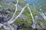 Thumbnail Serpentine curves of Trollstigen, Trollsteig, near Andalsnes, More og Romsdal, Norway