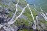 Thumbnail Serpentine curves of Trollstigen, Trollsteig, near Andalsnes, More og Romsdal, Norway