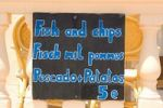Thumbnail menue, multilingual, tourist restaurant, Majorca, Balearic Islands, Spain