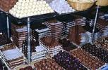 Thumbnail chocolates are sold in Chocolaterie Sukerbuyc in city of Brugge Belgium
