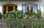 Thumbnail painted facade and garden of a farmhouse in Ascholding Bavaria Germany