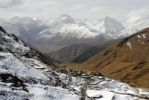 Thumbnail Village on snow covered slope and mountains Yerpa Tibet China
