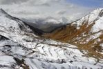 Thumbnail Village on snow covered slope with terraces and mountains Yerpa Tibet China