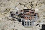 Thumbnail Tibetan Buddhism side buildung with grey and dark red painted walls Sakya Monastery Tibet China