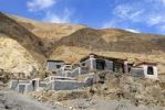 Thumbnail Traditional houses with grey and dark red painted walls at the mountain slope Sakya Monastery Tibet China