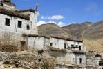 Thumbnail Traditional houses with donkey in village Shegar Tibet China