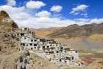 Thumbnail Mountain and monastery Shegar with white washed walls situated at the slope Tibet China