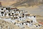 Thumbnail Monastery Shegar with white washed walls situated at the slope Tibet China