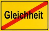 Thumbnail German city limits sign symbolising end of equality