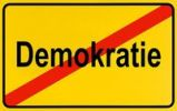 Thumbnail German city limits sign symbolising end of democracy
