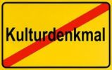 Thumbnail German city limits sign symbolising end of a cultural monument