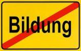 Thumbnail German city limits sign symbolising end of education