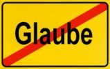 Thumbnail German city limits sign symbolising end of belief