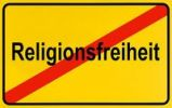 Thumbnail German city limits sign symbolising end of freedom of religion
