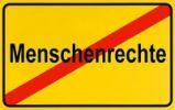 Thumbnail German city limits sign symbolising human rights abuse