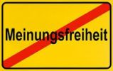 Thumbnail German city limits sign symbolising end of freedom of opinion