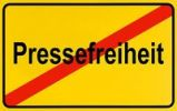 Thumbnail German city limits sign symbolising end of freedom of the press