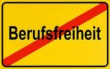 Thumbnail German city limits sign symbolising end of freedom of prefession