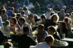 Thumbnail Munich, DEU, 05. Oct. 2005 - People join the autumn sun at the famous beer garden namend Chinesischer Turm in Munich