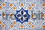 Thumbnail Decorative geometric wall painting Kok Gumbaz Mosque Dorut Tilyovat Complex Shahrisabz Uzbekistan