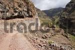 Thumbnail roadworks La Dama to La Rajita La Gomera Canary Islands
