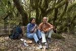 Thumbnail pair having a break in laurel forest National park Garajonay La Gomera Canary Islands
