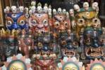 Thumbnail nepalese dance mask, Swayambhunat Temple, Kathmandu, Nepal