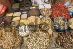 Thumbnail market booth with dried fish at Durbar Square, Kathmandu, Nepal