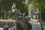 Thumbnail Turin Torino Piedmont Piemonte Italy fountain with god neptun in the Parco Valentino