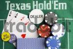 Thumbnail Texas Holdem Poker Dealer with cards and chips