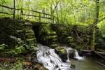 Thumbnail basalt bridge, Els stream, Rhoen, Franconia, Bavaria, Germany