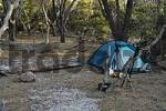 Thumbnail tent on camp ground at Cooks Beach Freycinet Nationalpark Tasmania Australia