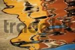 Thumbnail reflection in harbour basin, Riva del Garda, Lake Garda, Veneto, Italy