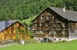 Thumbnail shingle covered farm houses in Bezau Vorarlberg Austria