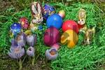 Thumbnail an easter nest with eggs and chocolate rabbits and crocus