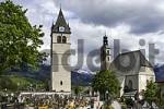 Thumbnail churches Liebfrauenkirche and St.Andreas on churchyard in Kitzbühel Tyrol Austria