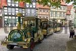 Thumbnail Quedlinburg near the Harz mountains Sachsen-Anhalt Germany Schlossberg castle hill timbered houses with tourist railway