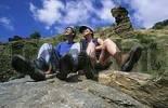 Thumbnail hikers rest Andalusia Province Granada Sierra Nevada Alpujarras, Alpujarras, Spain