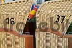 Thumbnail roofed wicker beach chair