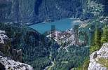 Thumbnail View from Monte Civetta to Lago die Alleghe in the Dolomite Mountains, Italy