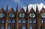 Thumbnail Gothic gable of historical cityhall at Stralsund Germany