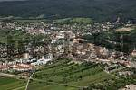Thumbnail aerial view of the town of with the town center and the Esterhazy palace Eisenstadt Burgenland Austria