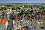 Thumbnail view from the clock tower over the center of the town Enns and to the palace of Ennsegg Upper Austria